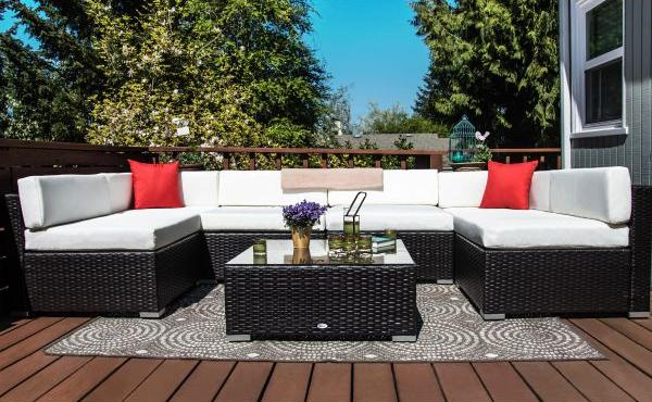 Outsunny Rattan Garden Furniture