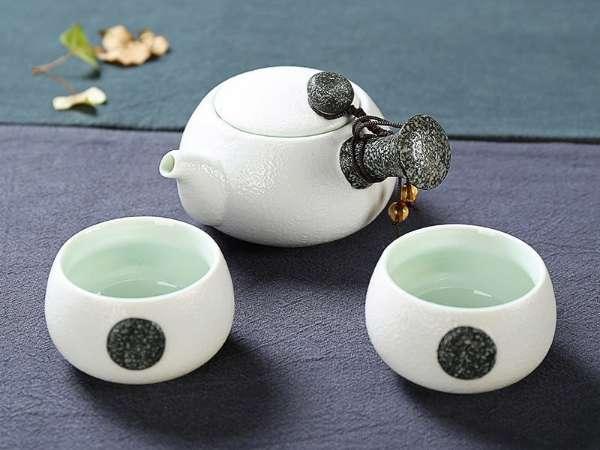 Porcelain White Chinese Tea Set