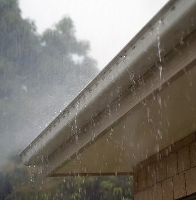 rain gutters recycled water