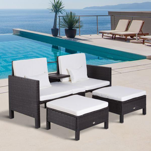 Sale Outsunny Rattan Garden Furniture