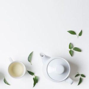 white flower tea