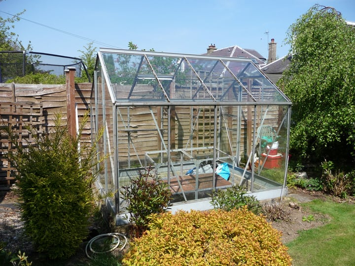 building a greenhouse in the garden