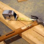 building a wooden bench