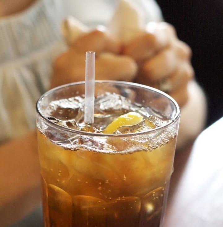 cold lemon tea