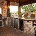 elegant outdoor kitchen