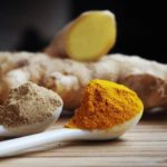 ginger powder cooking ingredients fragrant turmeric ground spoons tumblr wallpaper