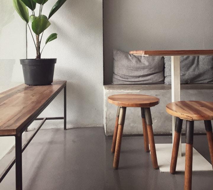 indoor wooden benches