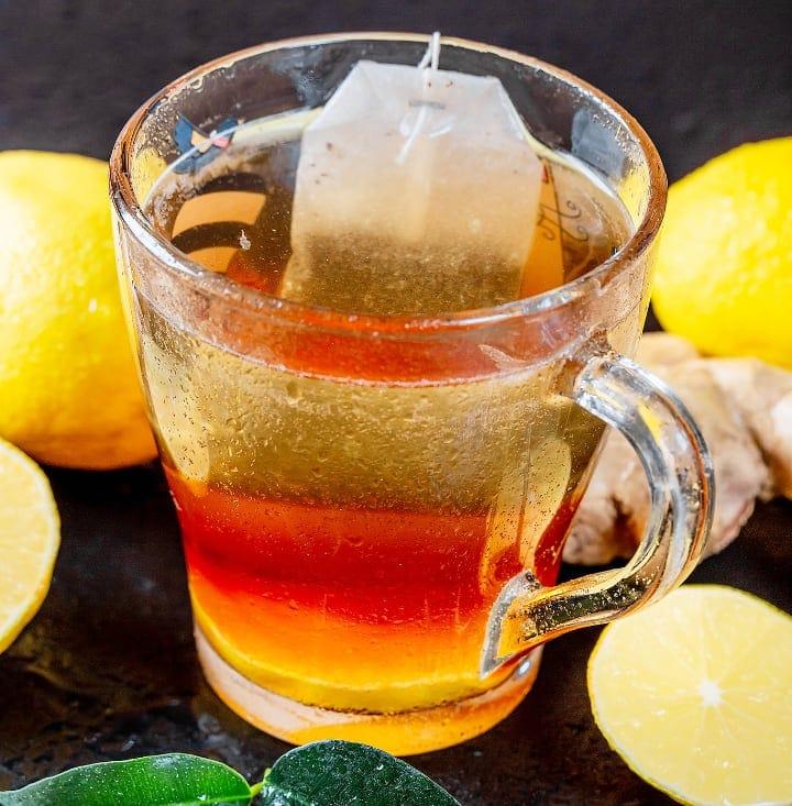 lemon tea with ginger