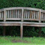 old teak wooden bench