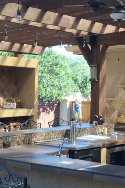 outdoor kitchen filled with natural light