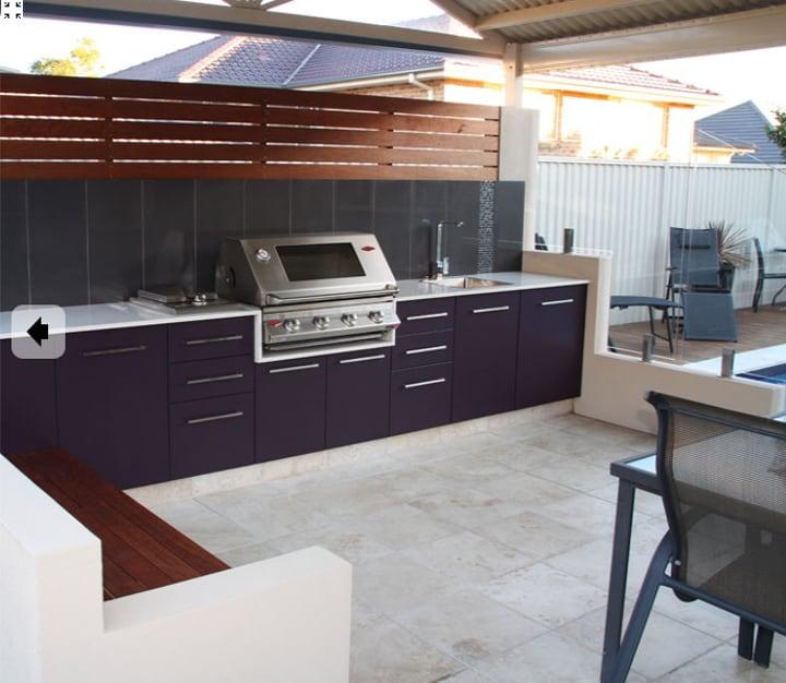 outdoor kitchen ledge