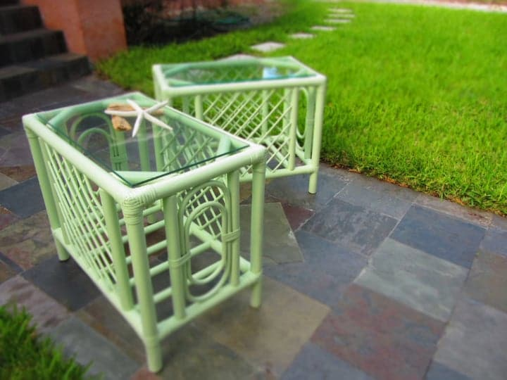 paint restored rattan furniture