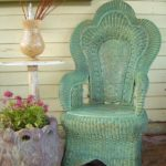 painted rattan chair