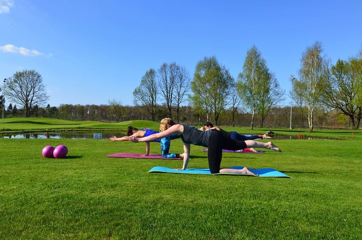people excercising with pilates