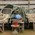 rattan furniture outdoors but under shade