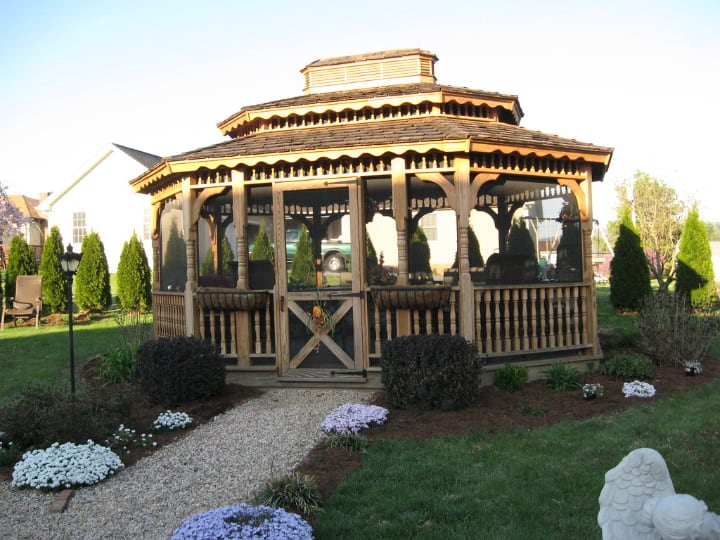 traditional tiered roof gazebo