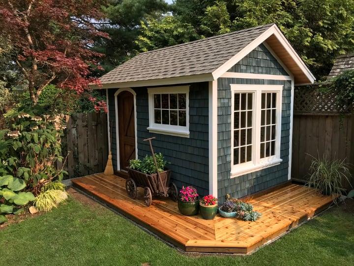 backyard garden shed