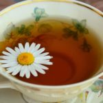chamomile tea on tea cup