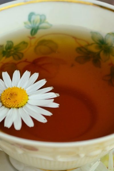 chamomile tea on tea cup