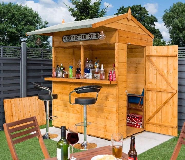 diy garden shed mini bar
