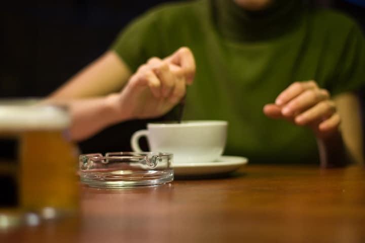 drinking herbal tea at night