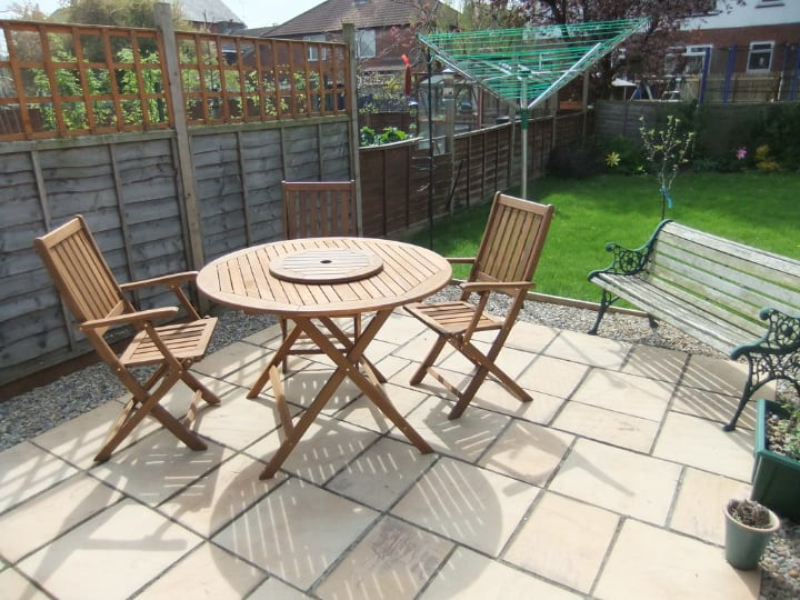 garden furniture in the patio