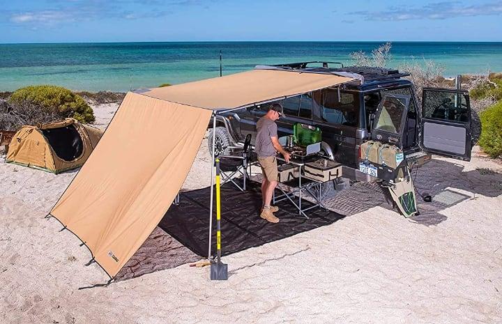 high wall trailer tent