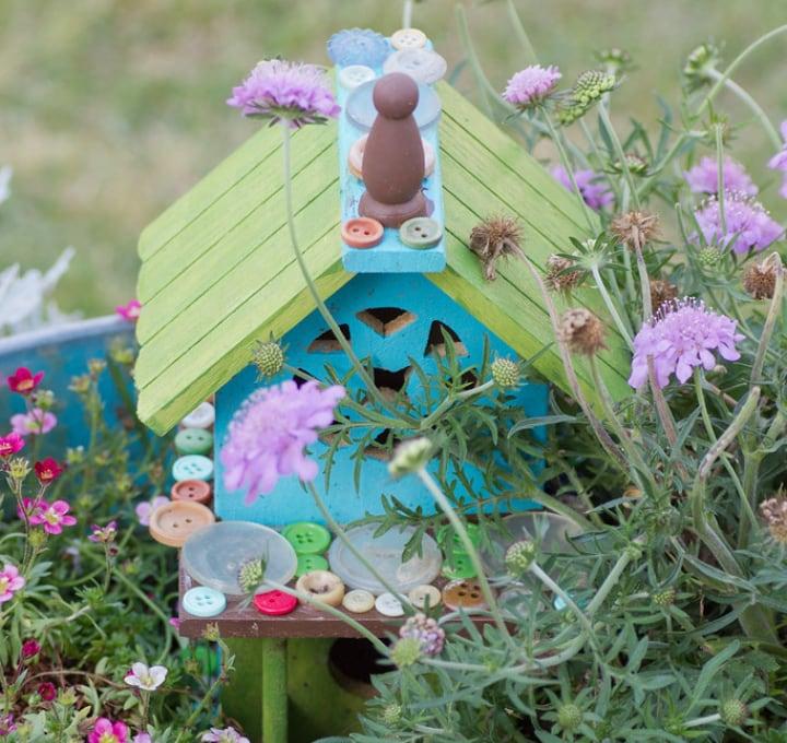 pastel fairy garden house