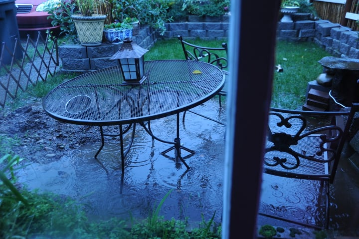 rainy patio