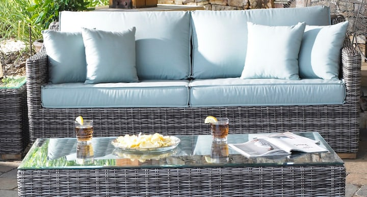 woven garden furniture