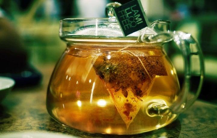 chamomile tea on pitcher