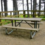 old picnic bench that needs restoration