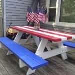 painted patriotic picnic table