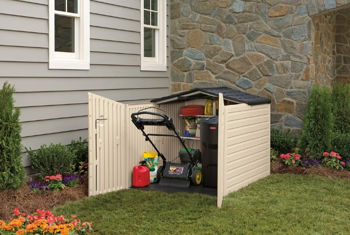 small garden shed for a small lawn
