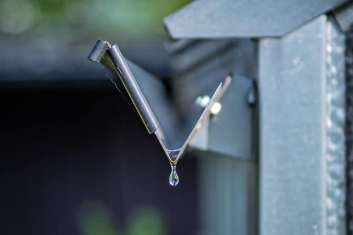 steel rain gutter
