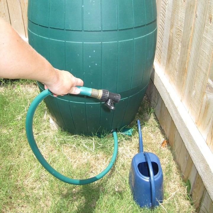 using rain water in the garden