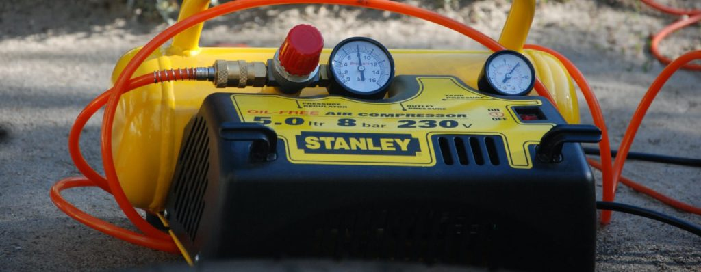yellow stanley air compressor