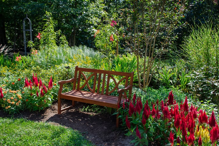 garden bench for small space