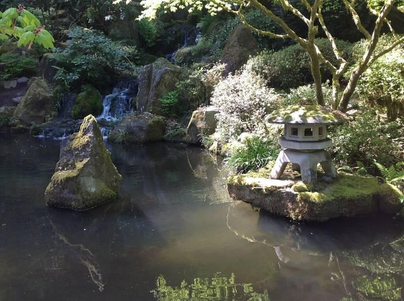 serene secret garden landscape