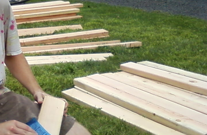 wood for building garden bench