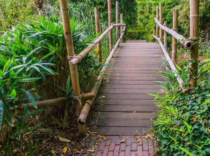zen garden bridge ideas