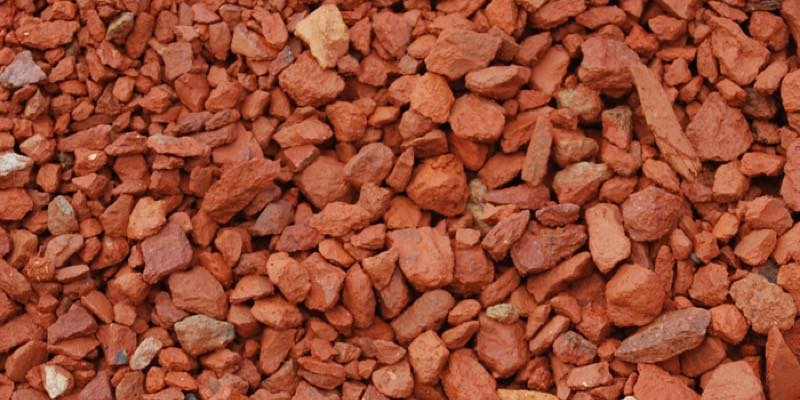 brick chips rocks for garden