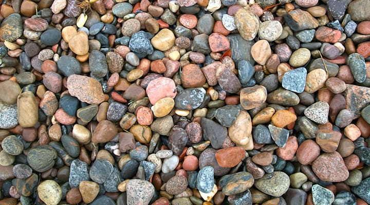 different types of garden rocks colors