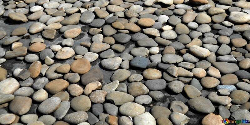 river rocks garden landscape