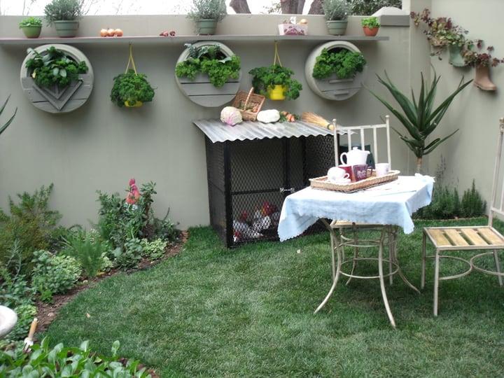 tiny creatively designed garden