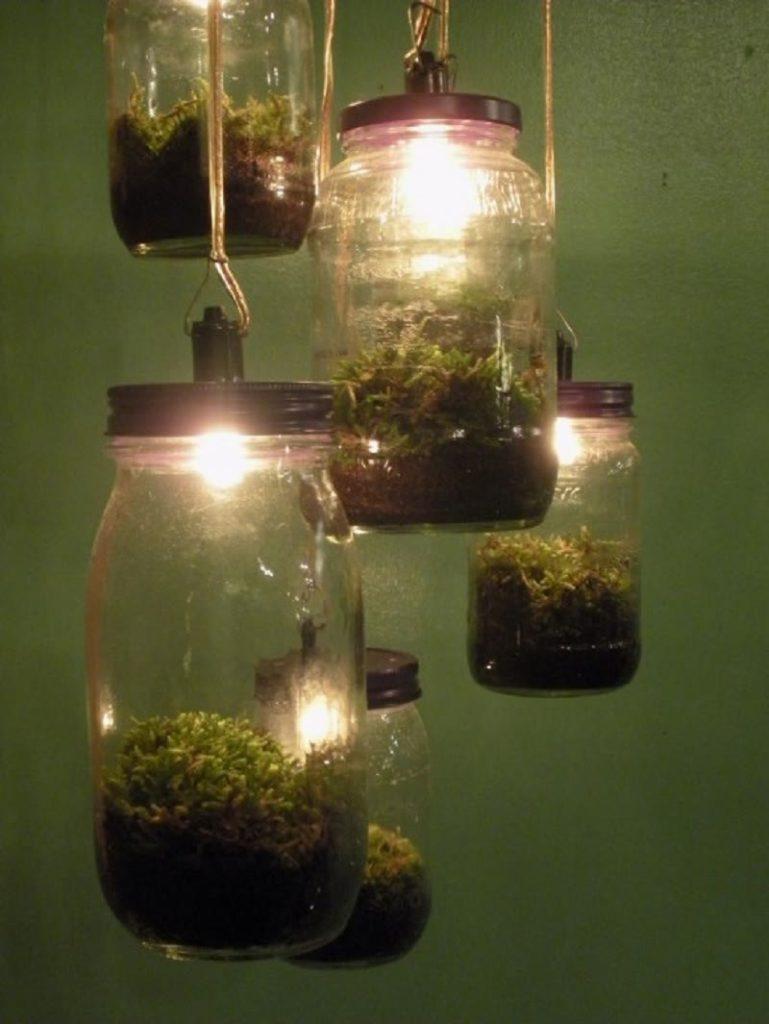 DIY jar lamp terrarium 1