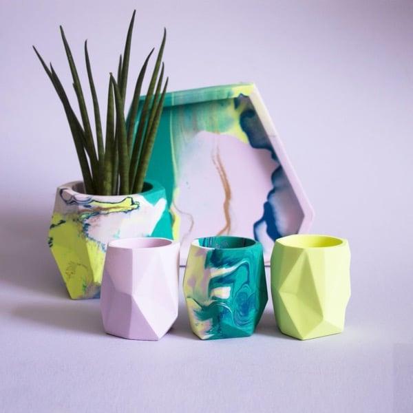 ceramic colorful plant pots