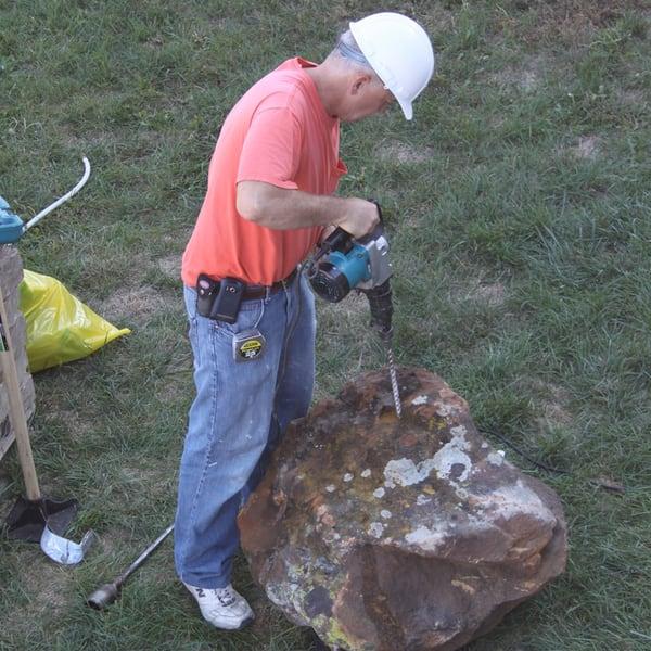 landscaper at work