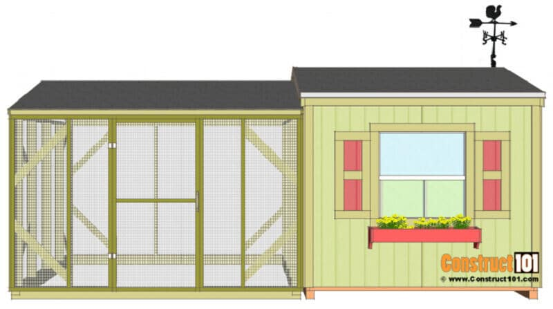 large chicken coop plan with run