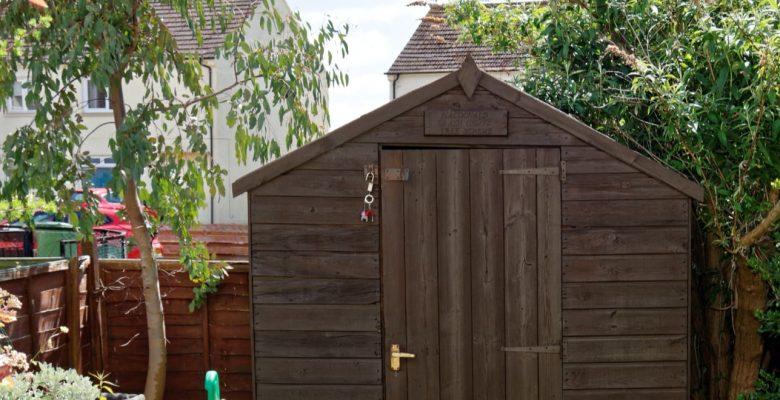 outdoor wooden garden storage